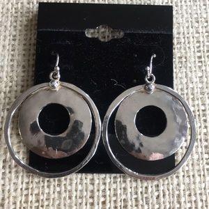 Silpada hammered hoop earrings
